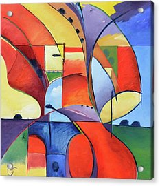 Figure Landscape Abstract Acrylic Print by Gary Coleman