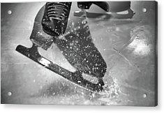 Figure Skating Abstract Acrylic Print by Rona Black