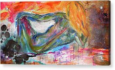 Acrylic Print featuring the mixed media Figure Study 2 by Lisa McKinney