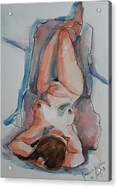 Figure Study  Acrylic Print by Janet Butler
