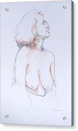 Figure Study Profile 1 Acrylic Print