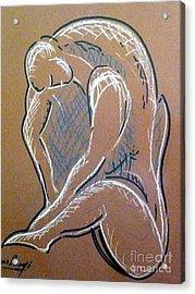 Figure Acrylic Print by Ushangi Kumelashvili