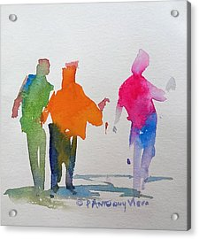 Figures In Motion  Acrylic Print