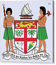 Fiji Coat Of Arms Acrylic Print by Movie Poster Prints