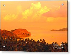 Fiji Mana Island Acrylic Print by Dave Fleetham - Printscapes