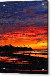 Fiji Sunrise Acrylic Print by Brian Governale