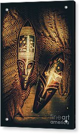 Fijian Tiki Tribal Masks Acrylic Print by Jorgo Photography - Wall Art Gallery