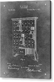 Filing Cabinet Patent Acrylic Print