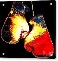 Filipino Boxer Acrylic Print by Teo Alfonso