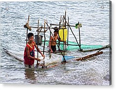 Filipino Fishing Acrylic Print by James BO  Insogna