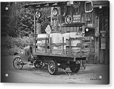 Fill Er Up          B And W Acrylic Print