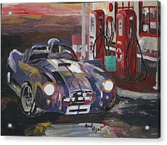 Fill Er Up Acrylic Print by David Poyant Paintings
