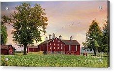 Fill Your Barns With Plenty Acrylic Print