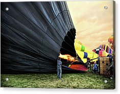 Filling The Balloon Acrylic Print