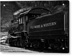 Fillmore-western Steam Train Acrylic Print by William Havle