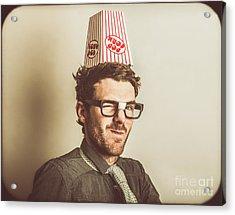 Film Critic Nerd Acrylic Print by Jorgo Photography - Wall Art Gallery