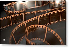 Film Strip Curled Acrylic Print