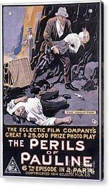 Film: The Perils Of Pauline Acrylic Print by Granger