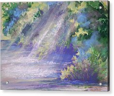 Filtered Light Acrylic Print by Becky Chappell