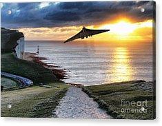 Final Beachy Head Pass Acrylic Print by J Biggadike