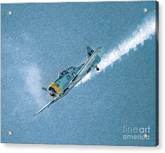 Final Dive World War Two Airplane  Acrylic Print by Randy Steele