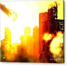Final Strike Acrylic Print by Richard Rizzo