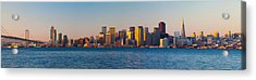 Financial District And The Bay Bridge Acrylic Print by Panoramic Images