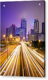 Financial District Office Buildings, Skyline Acrylic Print by Scott E Barbour