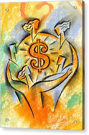 Financial Success Acrylic Print by Leon Zernitsky