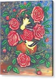 Finch Fancy Acrylic Print by Linda Mears