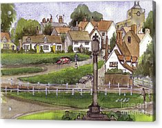 Finchingfield Essex Uk Acrylic Print by Dianne Green