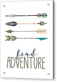 Acrylic Print featuring the digital art Find Adventure by Jaime Friedman
