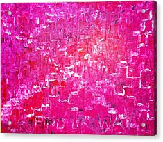 Acrylic Print featuring the painting Find Ur Way by Piety Dsilva