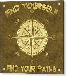 Acrylic Print featuring the painting Find Yourself Find Your Paths by Georgeta Blanaru