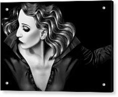Finding My Light In The Darkness - Self Portrait Acrylic Print by Jaeda DeWalt
