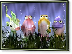 Finding Nemo Figurine Characters Acrylic Print by Brian Wallace