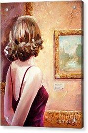 Fine Art Gallery Opening Night Acrylic Print