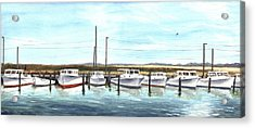 Fine Art Workboats Kent Island Chesapeak Maryland Original Oil Painting Acrylic Print