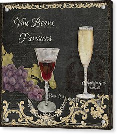Fine French Wines - Vins Beaux Parisiens Acrylic Print by Audrey Jeanne Roberts