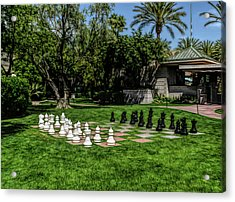 Acrylic Print featuring the photograph Fine Wine Cafe Chess At The Biltmore by Aimee L Maher Photography and Art Visit ALMGallerydotcom