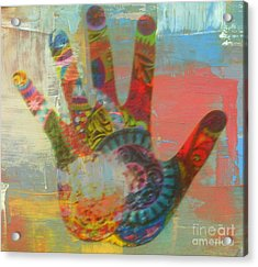 Finger Paint Acrylic Print by Kelly Awad