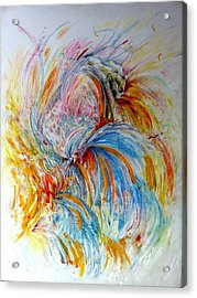 Fingerpainting Acrylic Print
