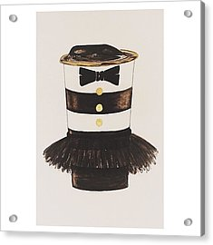 My #aliceandoliva #starbucks Painting Acrylic Print by Kathryn  Prantl