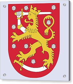 Finland Coat Of Arms Acrylic Print by Movie Poster Prints