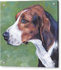 Acrylic Print featuring the painting Finnish Hound by Lee Ann Shepard