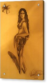 Acrylic Print featuring the drawing Fi'on-hu by Michelle Dallocchio