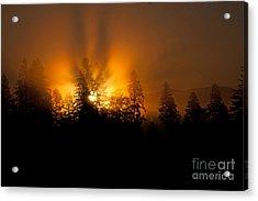 Fire And Fog Acrylic Print