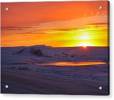 Fire And Ice Acrylic Print by Adam Owen