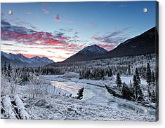 Fire And Ice Acrylic Print by Ed Boudreau