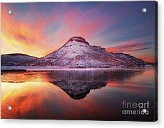 Fire And Ice - Flatiron Reservoir, Loveland Colorado Acrylic Print by Ronda Kimbrow